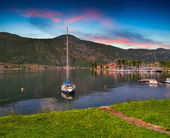 Yacht Club in the town — Stockfoto
