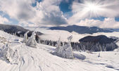 Winter landscape in the mountains — Stock Photo