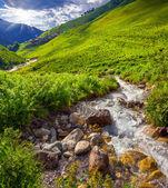 Mountain creek in the valley of village Adishi — Stock Photo