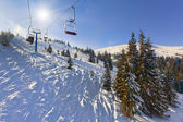 """Off-ride"" slope on the skiing resort. — Foto Stock"
