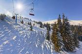 """Off-ride"" slope on the skiing resort. — Foto de Stock"