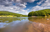 Summer day on the river — Stock Photo