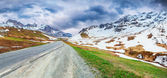Panorama of the Le Lautaret Pass — Stock Photo