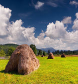 Hay in a village in the mountains — Photo