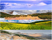 Set of the 4 seasons landscape — Stock Photo