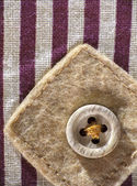 Patch with button — Stok fotoğraf