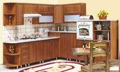 Interior of a custom kitchen — Stock Photo