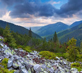 Dramatic summer landscape in the mountains. — Stock Photo