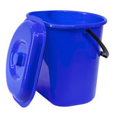 Balde de plástico azul — Foto Stock