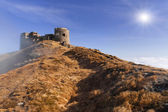 Fortress in the mountains — Stock Photo