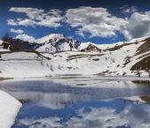 Lake on the pass Col De Vars, Alps, France — Stock Photo