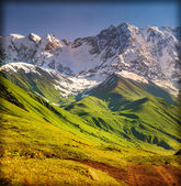 The main Caucasian ridge, Shkhara mountain.  — Stock Photo