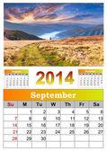 2014 Calendar. September.  — Stock Photo