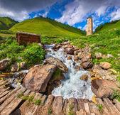 View of the village Adishi. — 图库照片