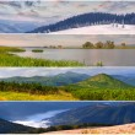 Set of the 4 seasons landscape — Stock Photo #50890005