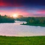 Summer landscape on the lake. — Stock Photo #50890851