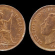Used Old Coin, One Penny - 1938 — Stock Photo #50892607
