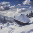 Hut covered with snow in the mountains — Stock Photo #50893261