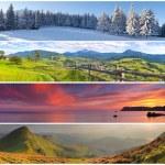 Set of the 4 seasons landscape — Stock Photo #50893397