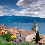 View of the city Gargnano and lake Garda — Stock Photo #50893771