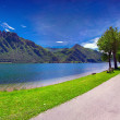 Summer sunny day in the park at Lake Idro — Stock Photo #50894195