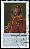 """DDR stamp  shows drawing of artist Frans Hals """"Mulatto"""" — Stock Photo"""
