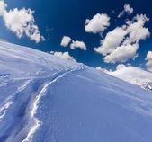 冬季景观在山中 — 图库照片