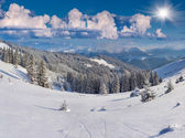 Winter landscape in mountains. — Stock Photo