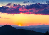 Mountains in the backdrop of the sunset — Stock Photo