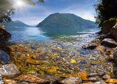 View of Lake Como, the Alps, Italy — Stock Photo