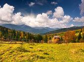 Paisagem de outono nas montanhas — Fotografia Stock