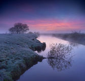 Dawn on the river — Stock Photo