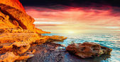 Colorful summer sunrise — Stockfoto