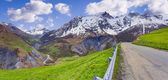 Panorama of the Pass Le Lautaret. — Stock Photo
