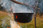 Kettle on the fire — Stock Photo
