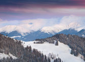 カルパティア山脈の冬の風景 — ストック写真