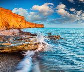 Beautiful summer seascape in Crimea — Stock Photo