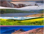 Set van de 4 seizoenen landschap — Stockfoto