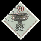 DDR stamp shows a silver bowl — Stock Photo