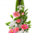 Bright flower bouquet in basket — Stock Photo #50972003