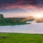 Beautiful summer landscape on the lake. — Stock Photo #50977129