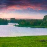 Beautiful summer landscape on the lake. — Stock Photo #50977135