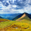 Panorama of the Carpathian mountain at summer — Stock Photo #50977431
