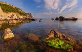 Summer landscape on the sea. — Zdjęcie stockowe