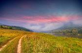 Lato pejzaż nad rzeką — Zdjęcie stockowe