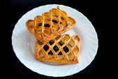 Twist buns with jam — Stock Photo