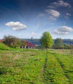 Spring landscape near the river — Foto de Stock