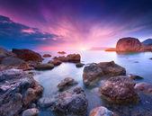 Colorful summer seascape — Zdjęcie stockowe