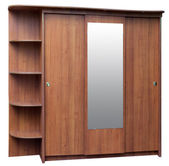 Old style brown wardrobe — Stock Photo
