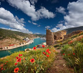 Genoese fortress in the Bay of Balaclava — Stock Photo